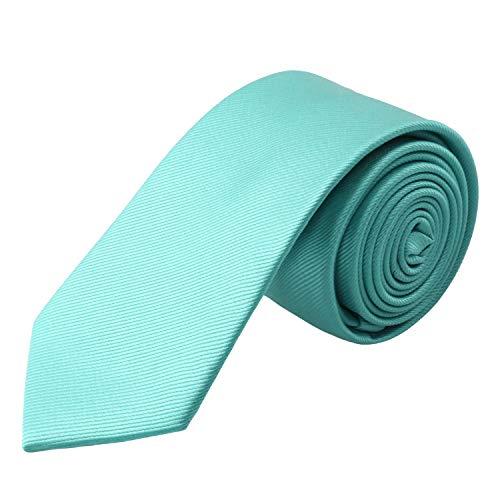- Alizeal Men's Solid Color Skinny Tie 2.4 inches (6cm width) Casual Neckties (Aqua Green)