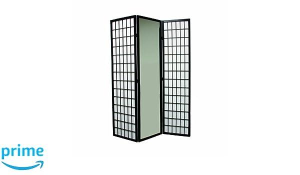 Ore International 3-Panel Black Finish Mirror Room Divider: Amazon.ca:  Tools & Home Improvement - Ore International 3-Panel Black Finish Mirror Room Divider: Amazon