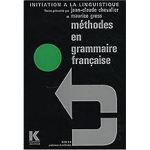Méthodes en grammaire française