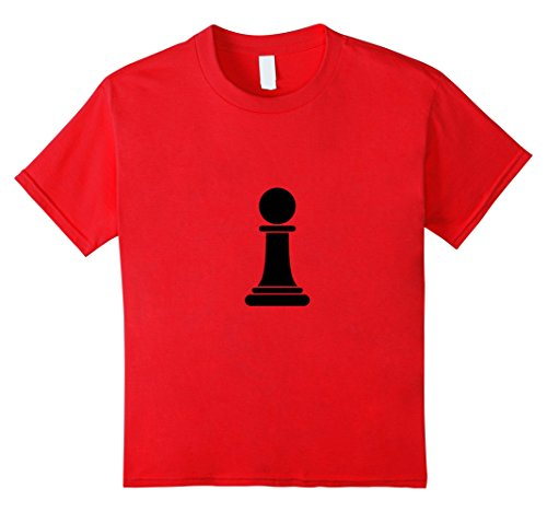Kids Chess Piece Group Costume Shirt - PAWN (black) 6 Red - Red Chess Queen Costume