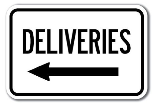 Deliveries with left arrow Sign 12