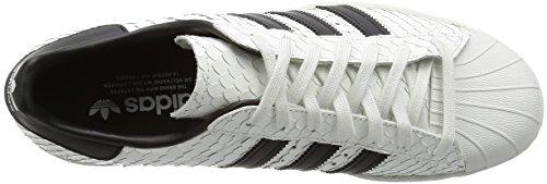 adidas Originals Superstar 80s Schuhe Herren Sneaker Turnschuhe Weiß S75836, Bianco, 44 2/3 EU