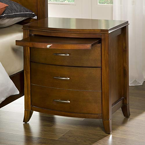 Modus Furniture BR1581 Brighton Two Drawer Nightstand, Cinnamon ()