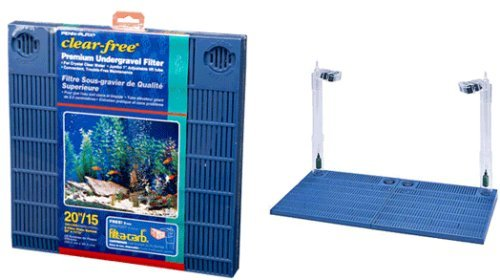 Undergravel Filter Set Up (20 Gallon, Easy to Assemble, Clear Free Premium Undergravel Filter)