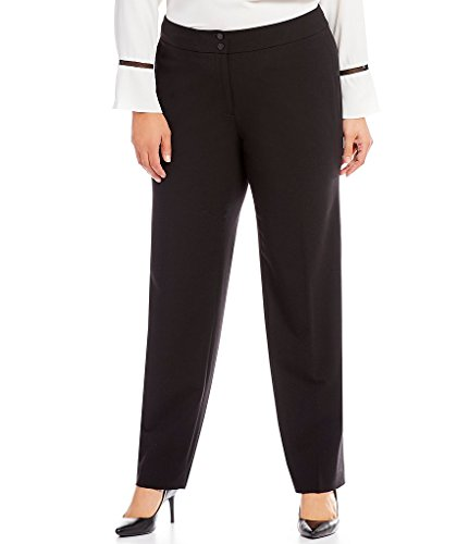 Career Pants Suit - Calvin Klein Women's Plus-Size Career Pant, Black, 18W
