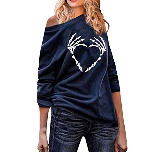 YANYUN Shirts for Women,Blouse for Women Plus Size Round Neck Long Sleeve Casual Tops ()