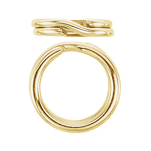 JewelrySupply Split Ring 6.5mm 14 Karat Yellow Gold 14k Yellow Gold Ring