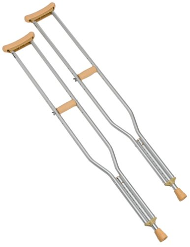 Carex Push Button Aluminum Crutch, Tall