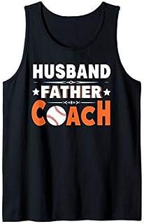 Husband Father Coach: Softball Baseball Dad Gift Tee  Tank Top T-shirt | Size S - 5XL