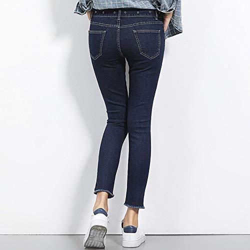 Vita Skinny Denim Occhiola A Media Plus Matita Intera Donn Rlwfjxh 2 40 Solid S Donna Size 6l Nappa 120kg Autunno Colori Figura Jeans ng0UYw7qT