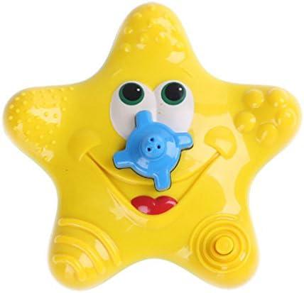 Itian Baby Starfish Bath Toy Diffuseur de baignoire flottante Douche Fontaine deau tournante /électronique pour enfant Jaune