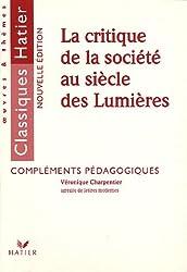 La critique de la société au siècle des Lumières