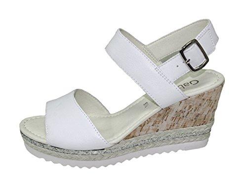 para Fashion con Shoes Cuña White Gabor Mujer Sandalias 67Xx7A