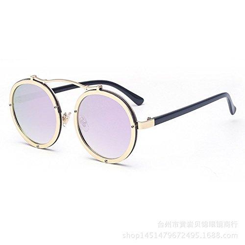 et Un pour 6 confortables métalliques soleil Lunettes femmes rondes lunettes Verres lunettes de hommes de Shop soleil w7Aa6qa