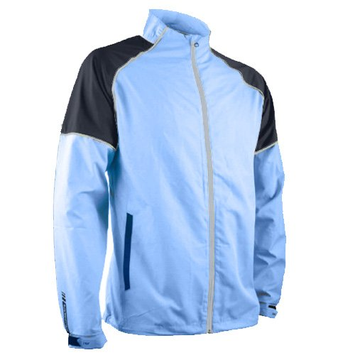 Sun Mountain Mens Headwind Full Zip Jacket Blue/Navy L ()