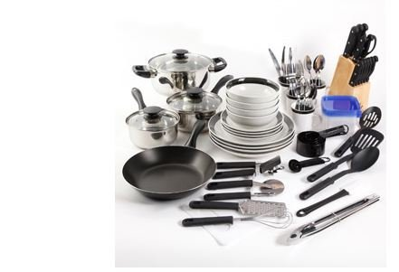 Essential Home Total Kitchen Cookware, Utensil 83 Pc Combo - Kitchen Home Cookware