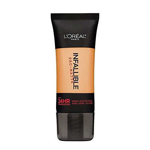 L'Oreal Paris Infallible Pro-Matte Foundation Makeup, 106 Sun Beige, 1 fl. oz.