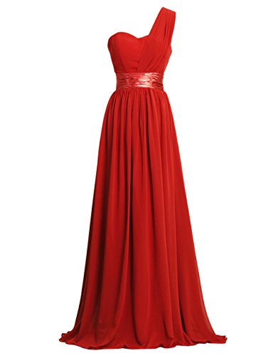 Get Bridesmaid Dress 1-2 Days From FAIRY COUPLE One-Shoulder Chiffon D0126