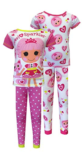 Lalaloopsy Jewel Sparkles 4 Piece Mix/Match PJ Set for Little Girls (4) ()
