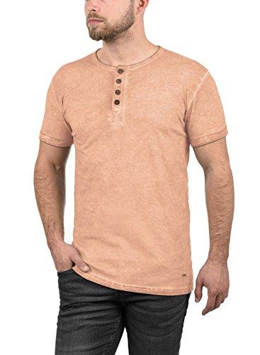 solid Mahog À Pour Chemise shirt Tihn Manches Courtes 100 Coton T Rose Homme 4203 rawgpnPr