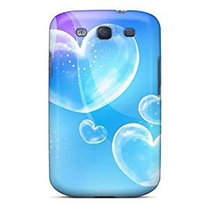 Touching Rhythms Protective Case For Galaxy S3(blue Bubble Love)