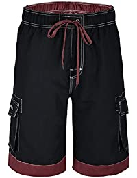 Men's Fashional Contrast Color Casual Beach Bathing Shorts