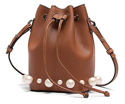 Handbag Women's Fashion Brown Bag Bag Casual Shoulder Shopping Pearl Crossbody Sw4wdq