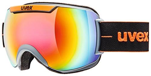 Uvex Downhill 2000 Full Mirror Goggle Coal/Orange Mat/Mirror Rainbow/Rose, One Size