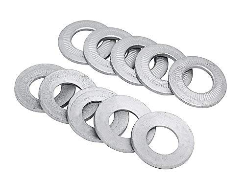 (10pcs) M20 Belleville Ribbed''Rip-Lock'' Spring Lock Washer with Geomet Finish by BelMetric WB20ZFL