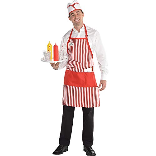 Waiter Halloween Costume Accessory Kit for Adults, One Size, 4 Pieces, by -