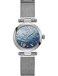 Womens Gc PureChic 32mm Steel Bracelet & Case Quartz MOP Dial Analog Watch Y31001L7
