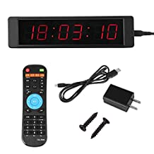 Programmable LED Remote Wall Clock, Stopwatch Alarm Clock Countdown Precise Timer
