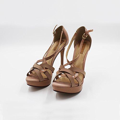 Sandalo 40 Verniciato Beige Alto Schutz daZxtAA