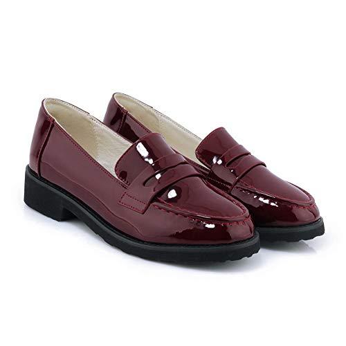 5 Inconnu Femme Sandales Rouge MMS06405 1TO9 36 EU Bordeaux Compensées UwrUv8