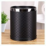 SX-ZZJ trash can- Trash Can - Double Stainless Steel Home Living Room Bathroom Bedroom Hotel Trash Can (Color : B)