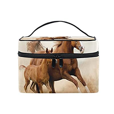 962b80411a19 30%OFF ALIREA Baby Horse And His Mom Cosmetic Bag Travel Makeup ...