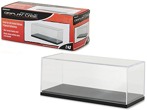 Acrylic Display Show Case with Plastic Base for 1/43 Scale Model Cars by Greenlight