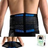 (US) Brand New Deluxe Neoprene Double Pull Lumbar Lower Back Support Brace Exercise Belt