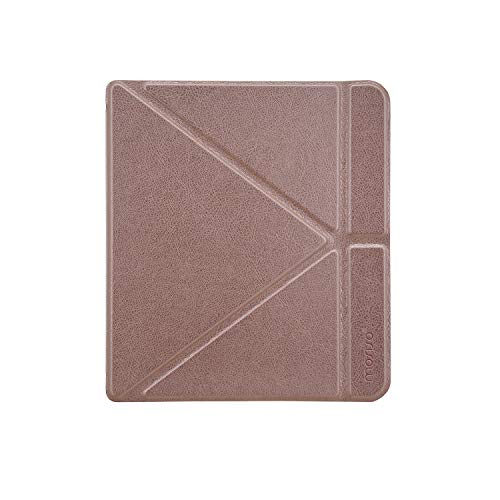 MOSISO PU Leather Case Compatible with 2018 Kobo Forma 8 Inch E-Reader, Slim Protective Smart Folio Shell Cover with Magnetic Closure and Stand Function, Rose Gold