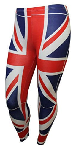 union jack leggings - 6
