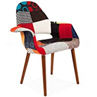 Organic Arm Chair - Inspired By Designs of Charles & Ray Eames (Patchwork)
