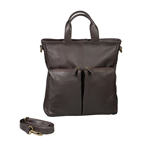 Winn Harness Cowhide Leather All Purpose Tote/Back Pack - Brown