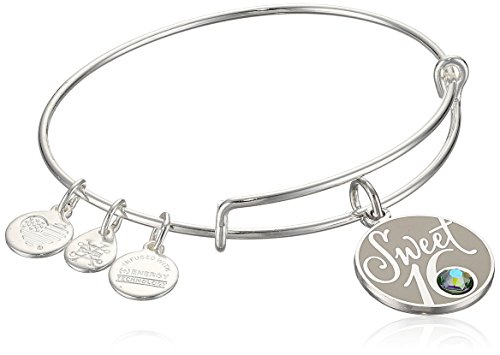 Alex and Ani Womens Sweet 16 EWB Bangle Bracelet, Shiny Silver, Expandable -