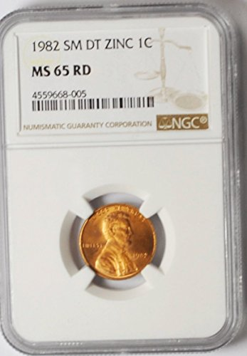 1982 P Lincoln Memorial Cent Small Date Philadelphia 1c MS65 NGC RD