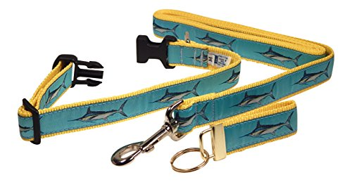 r and Leash Set, Medium and Large Dogs, FREE Matching Key Ring (MEDIUM) (Marlin Harness)