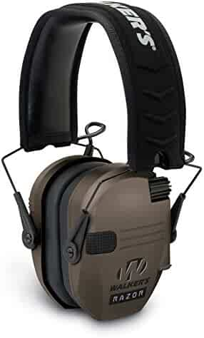 """Walker's Game Ear Walker's Razor Slim Electronic Hearing Protection Muffs with Sound Amplification and Suppression. """"Protect It Or Lose It!"""""""