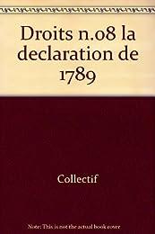 DROITS N° 8 : LA DECLARATION DE 1789