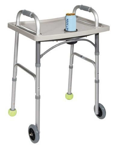 Drive Medical Universal Walker Tray With Cup Holder Grey Drive