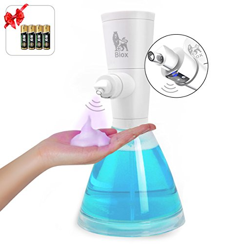 HENGQIANG Foam Soap Dispenser, Automatic Soap Dispenser, 17oz High Volume Non-Contact Automatic Sensor Dispenser for Kitchen, Bathroom, Countertop, Waterproof Base.(Snow White Edition)