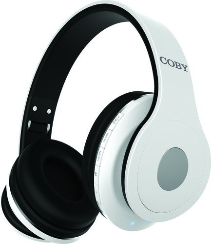 (COBY Headphone,Bluetooth,White)